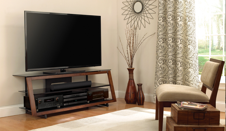 Bell O 65 Inch Tv Stand Espresso Wood Frame Rent 1st
