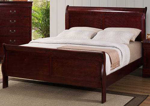Crown Mark Full Bed - Cherry