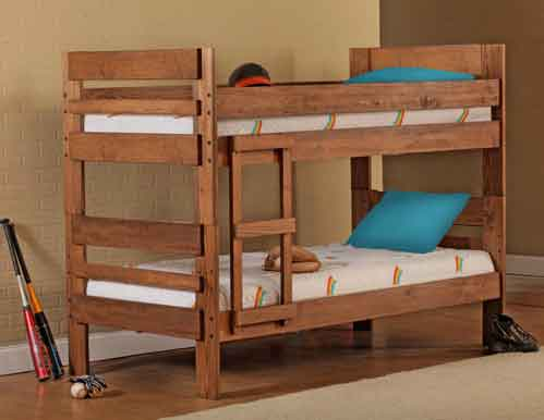 Rustic Stackable Twin Bunk Bed