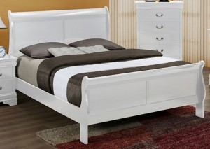 Crown Mark Full Bed - White