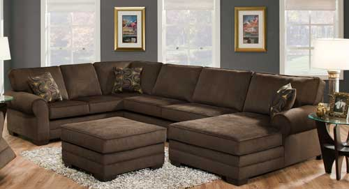 Beluga Sectional in Dark Chocolate Brown
