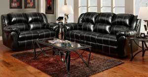 Taos Black Motion Sofa and Loveseat