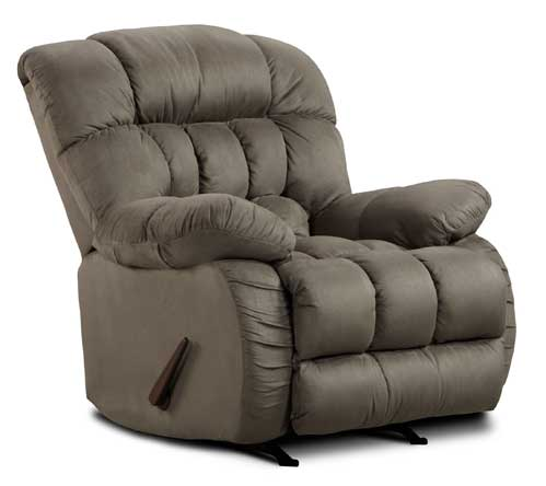 Soft Suede Recliner in Graphite