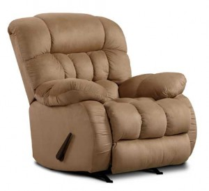 Soft Suede Recliner in Taupe