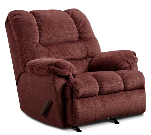 Zig Zag Recliner in Wine