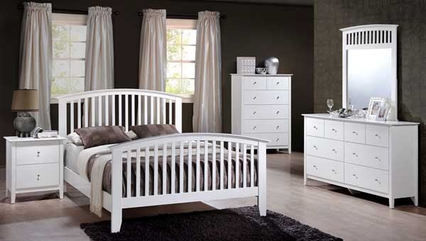Lawson King White Bedroom Set