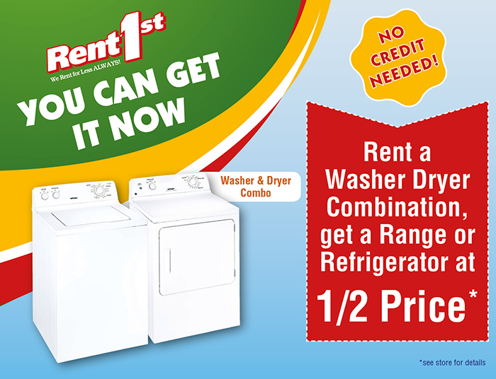 Special Price on washers and dryers