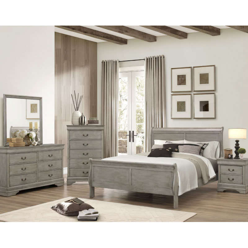 Louis Philippe Queen Bedroom Set By Crown Mark Rent 1st