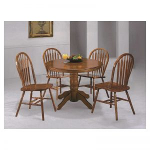 Dark Oak Dining Room Set