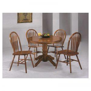 Dark Oak Dining Room Set