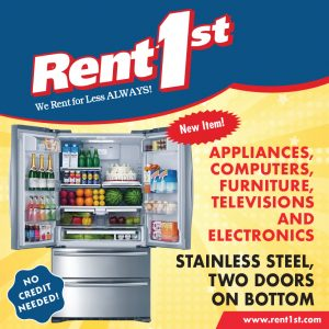 Refrigerator Special at Rent 1st.