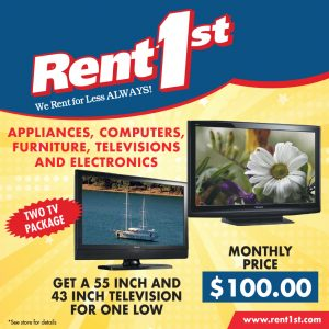 Tv combo at Rent 1st