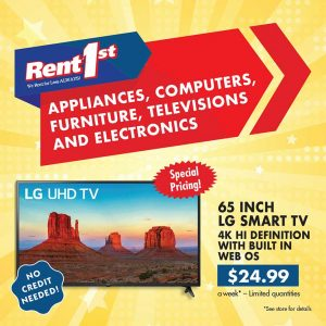 65 Inch TV Special at Rent 1st