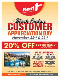 Black Friday at Rent 1st